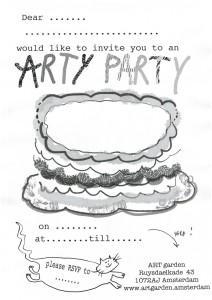 ARTgarden party invitation